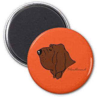 Bloodhound head silhouette magnet
