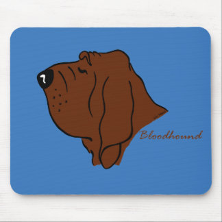Bloodhound head silhouette mouse pad