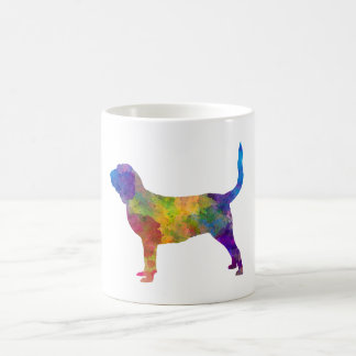 Bloodhound in watercolor coffee mug
