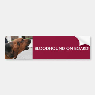 Bloodhound On Board Bumper Sticker