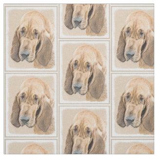 Bloodhound Painting - Cute Original Dog Art Fabric