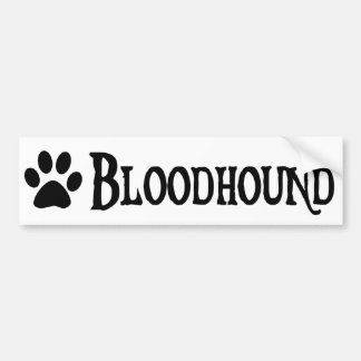 Bloodhound (pirate style w/ pawprint) bumper sticker