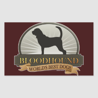 Bloodhound Rectangular Sticker