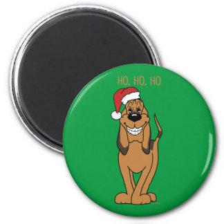 Bloodhound Santa Magnet