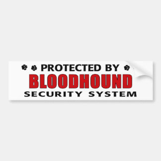 Bloodhound Security Bumper Sticker