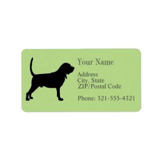 Bloodhound Silhouette Address Label