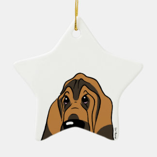 Bloodhound - Simply the best! Ceramic Star Decoration
