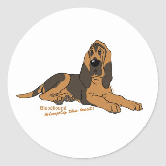 Bloodhound - Simply the best! Classic Round Sticker