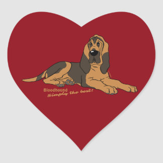 Bloodhound - Simply the best! Heart Sticker