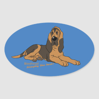 Bloodhound - Simply the best! Oval Sticker
