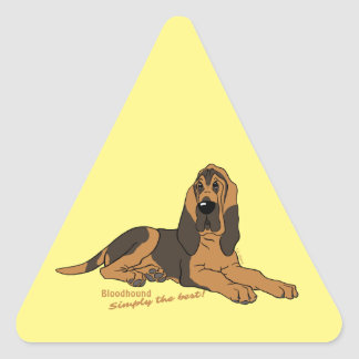Bloodhound - Simply the best! Triangle Sticker