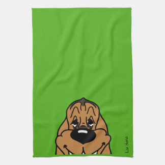 Bloodhound Smile Tea Towel