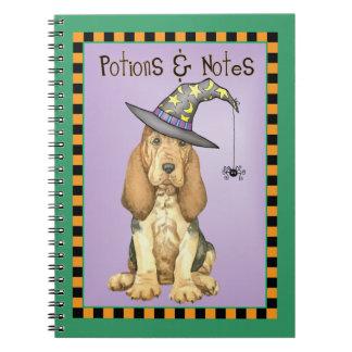 Bloodhound Witch Spiral Notebook