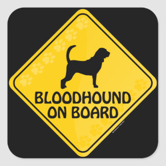 Bloodhound Xing Square Sticker