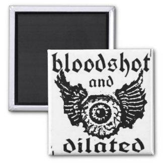 Bloodshot BAD EYEBALL magnaet Square Magnet