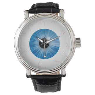 Bloodshot Blue Eyeball Wristwatches