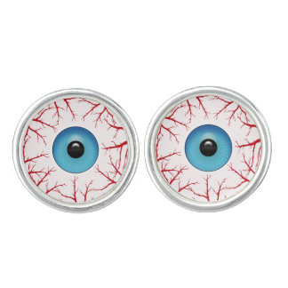 Bloodshot Eyeballs Halloween Dress Up Cufflinks