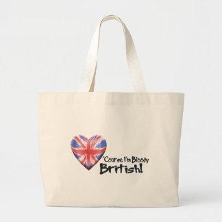 Bloody British Jumbo Tote Bag