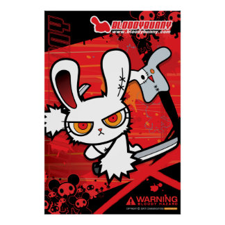 Bloody Bunny Poster I