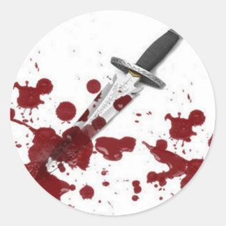 Bloody Dagger Classic Round Sticker