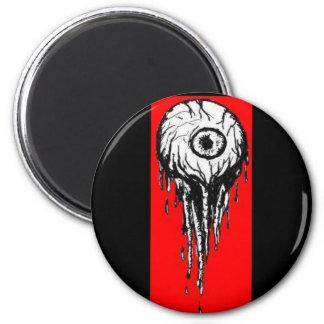 Bloody Eyeball 6 Cm Round Magnet