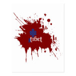 Bloody free tibet post card