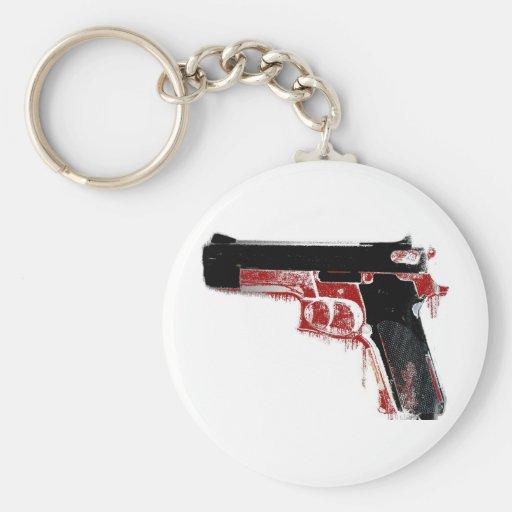 Bloody Gun Key Chain