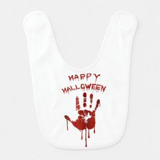 Bloody halloween hand baby bib