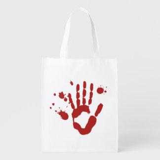 Bloody Hand Blood Splatter Trick Or Treat Bag