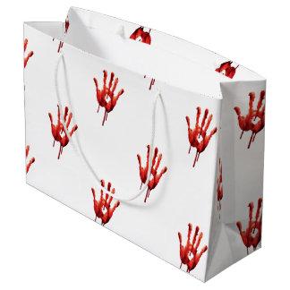 Bloody Hand Print Large Gift Bag