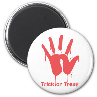 Bloody Hand Print Magnet