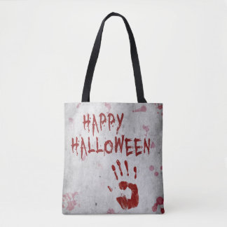 Bloody Handprint Halloween All-Over-Print Tote Bag