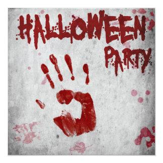Bloody Handprint Halloween Party Invitation