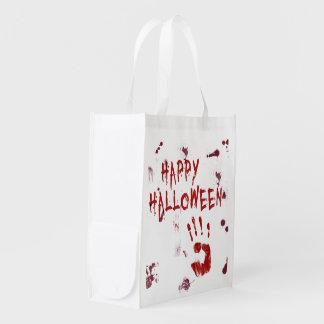 Bloody Handprint Halloween - Reusable Bag