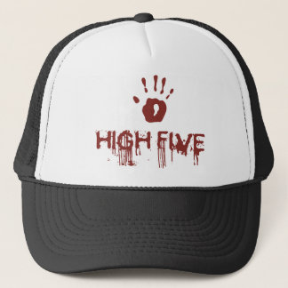 Bloody high five trucker hat