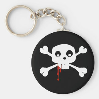 Bloody Jolly Roger Keychain