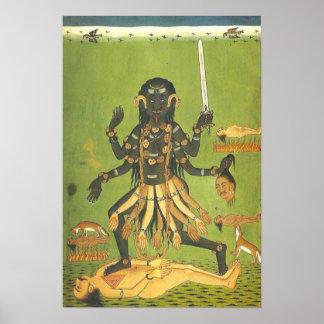 Bloody Kali patron goddess of the Thugs Poster