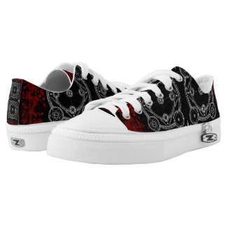 Bloody Magick Ritual Grunge Printed Shoes