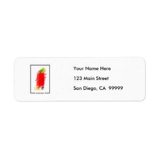 Bloody Mary Cocktail Marker Sketch Return Address Label