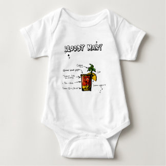 Bloody Mary Cocktail Recipe Baby Bodysuit