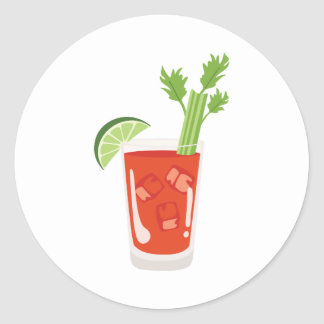 Bloody Mary Cocktail Round Sticker