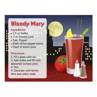 Bloody Mary Recipe Card