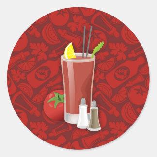Bloody Mary Round Sticker