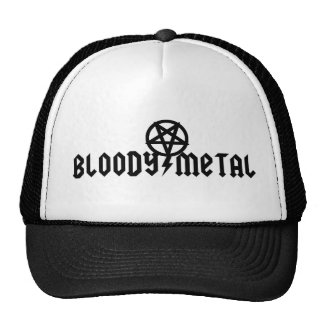 Bloody metal hat