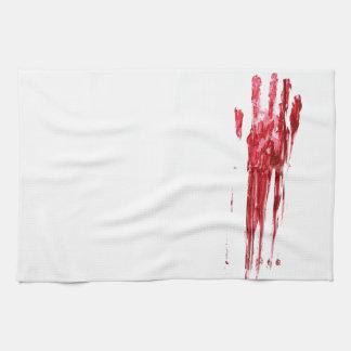 Bloody murder tea towel