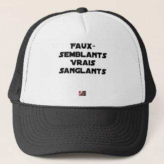 BLOODY PRETENCES, TRUTHS - Word games Trucker Hat