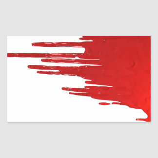 Bloody Rectangular Sticker