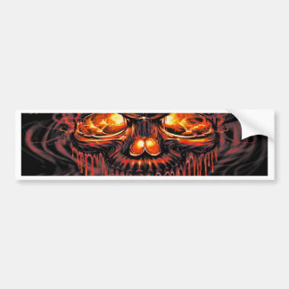 Bloody Red Skeletons Bumper Sticker