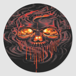 Bloody Red Skeletons Classic Round Sticker