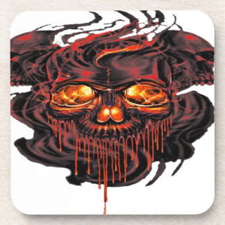 Bloody Red Skeletons PNG Coaster